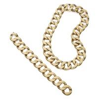 524. gold necklace and bracelet, verdura