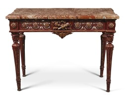 44. a louis xvi style painted centre table, second half 19th century