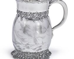 38. an american silveryachting pitcher, tiffany & co., new york, circa 1892  