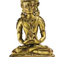 22. 十六世紀 西藏 鎏金銅無量壽佛坐像