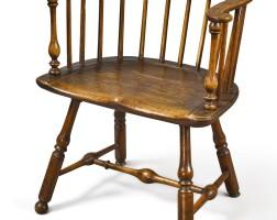 6044. windsor low-back armchair, philadelphia, circa 1770