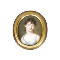 44. 女子肖像象牙細密畫,史稱巴伐利亞公主奧古斯特·阿馬利婭,丹尼爾·森特繪製,附簽名saint dapres [sic] augustin,隨讓·巴蒂斯·雅克·奧古斯丁,約1805年 | 女子肖像象牙細密畫,史稱巴伐利亞公主奧古斯特·阿馬利婭,丹尼爾·森特繪製,附簽名saint dapres [sic] augustin,隨讓·巴蒂斯·雅克·奧古斯丁,約1805年