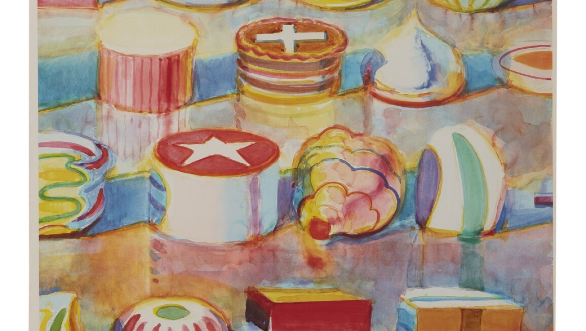 Wayne Thiebaud, Display Rows. Estimate $40,000–60,000.