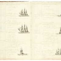 312. ships log, hms minden and hms illustrious, copiously illustrated, 1812-13