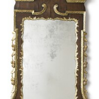 267. a george ii parcel-gilt mahogany pier mirror, circa 1750