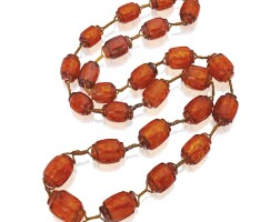 3. amber bead necklace