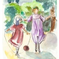 120. henri lebasque | étude pour fillettes sautant à la corde