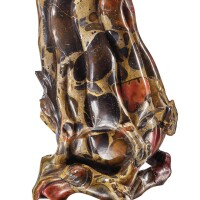 1217. a puddingstone carving of a finger citron qing dynasty, 18th century |