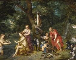 31. 老楊·布呂赫爾, 亨德里克·凡·巴蘭一世 | 《狩獵後的女神黛安娜與仙女》