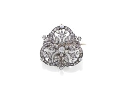 6. diamond pendant/brooch, late 19th century
