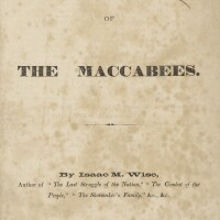 163. the first of the maccabees, isaac m. wise, cincinnati: bloch & co., office of the israelite, 1860