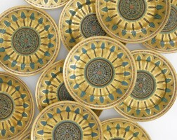 56. a group of thirteen russian serving platters from the kremlin service, imperial porcelain manufactory, st. petersburg, period of nicholas i (1825-1855)