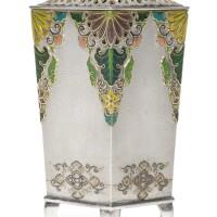 169. a fine silver vase signed musashi ya and sealed ozeki sei,meiji period,late19th century |