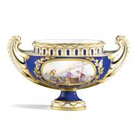 7. a sèvres soft-paste porcelain pot-pourri, 18th century, circa 1770