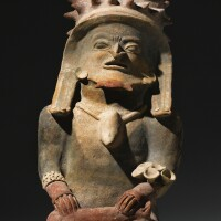 7. manabi seated figure, bahia, ca. 500 b.c.-a.d. 500