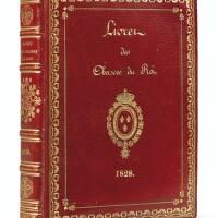 170. livret des chasses du roi pour 1828.