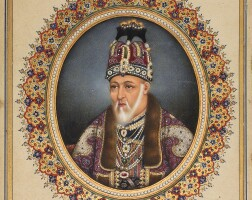 211. a portrait of bahadur shah ii, mughal, delhi, circa 1845-55