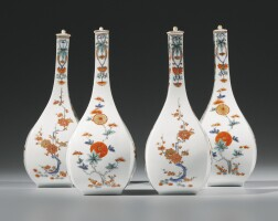 10. a set of four japanese porcelain kakiemon sake bottles and covers, late seventeenth century