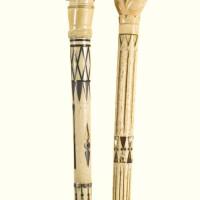 724. cane with fist holding snake handle nantucket, massachusetts, circa 1840