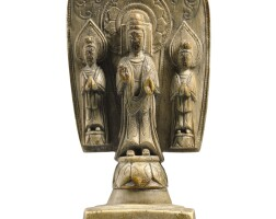 3006. an extremely rare ivory votive figure of sakyamuni buddha northern qi dynasty, dated to the 2nd year of the huangjian period (in accordance with 561)