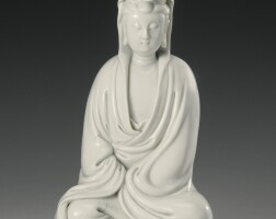 191. a 'dehua' figure of seated guanyin qing dynasty, 17th century