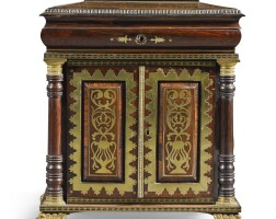 244. a regency gilt-bronze mounted and brass inlaid rosewood dwarf cabinet, circa 1815/20, in the manner of george bullock |