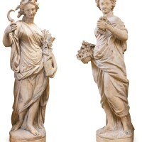 27. french, 19th centuryallegories of spring and summer |