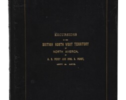17. [canada]— algernon h. percy, and alice percy. 'excursions in the british north west territory of north america'. shropshire: privately printed by bennion & horne, ca. 1878