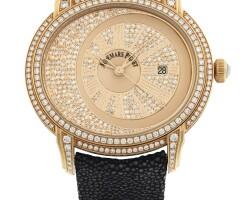 219. 愛彼(audemars piguet) | 15330or型號「millenary by morita」限量版粉紅金鑲鑽石腕錶備日期顯示,年份約2009。