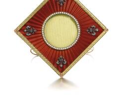342. a fabergé jewelled gold and enamel frame, workmaster henrik wigström, st petersburg, 1903-1904