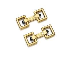 66. pair of sapphire cufflinks, cartier, 1960s