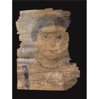 28. an encaustic mummy portrait of a girl, circa a.d. 130-150