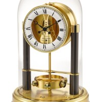 2006. jaeger-lecoultre | limited edition gilt brass atmos clockno 0382/3000 serial 604599 150 th anniversary circa 1983