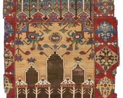 29. a fragmented konya prayer rug