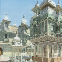 24. victor edelstein born in 1946 | view of the palace of the maharajah of udaipur, india