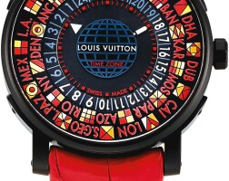 157. louis vuitton | escale, reference q5d230 a limited editionpvd-coated stainless steel worldtime wristwatch, made forthe japan market,circa 2018