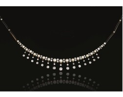 369. pearl and diamond necklace, late 19th century