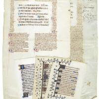 38. five leaves [france (and flanders?), mid-13th to late-14th centuries]
