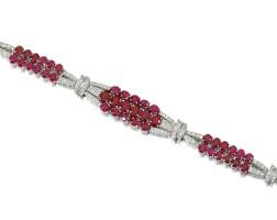 9. ruby and diamond bracelet