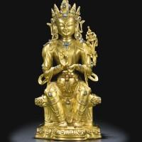 45. a gilt-bronze figure of maitreya tibet, 16th century