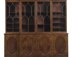 12. a george iii mahogany and fusticbreakfront bookcase, circa 1785