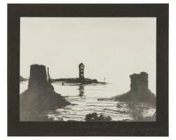 179. vik muniz (b. 1961) | 6200 yards of black thread (the norvegian lighthouse), 1995