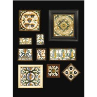 103. a group of framed arista pottery tiles, seville and toledo, spain, 15th-16th century