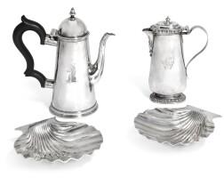311. a pair of george ii silver shell dishes, benjamin godfrey, london, circa 1730 |