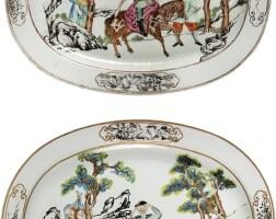 316. a rare chinese export european subject platter, qing dynasty, qianlong period, circa 1750 |