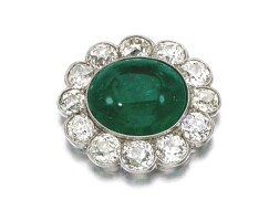 22. emerald and diamond pendant