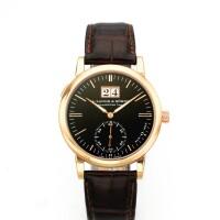 5. a. lange & söhne | sax-o-mata pink gold automatic wristwatch with date circa 2002