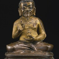 411. a bronze figure of thangtong gyalpo tibet, 16th century