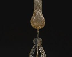 198. a monumental pierced steel 'alam, persia or deccan, 17th century