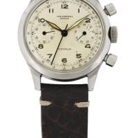 48. universal genève | 22409型號「compur」精鋼計時腕錶,年份約1945。